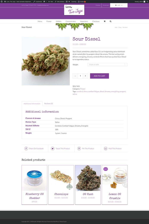 Dispensary ecommerce website design