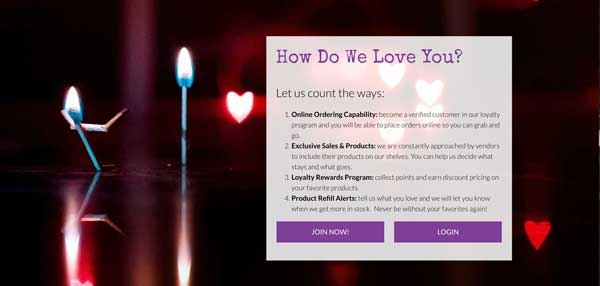 Dispensary website loyalty programs